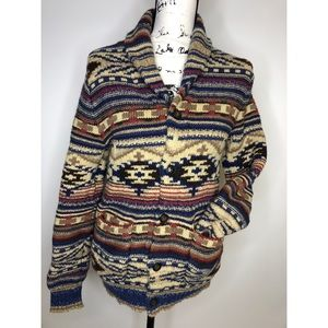 American Eagle Button Down Aztec Cardigan - small